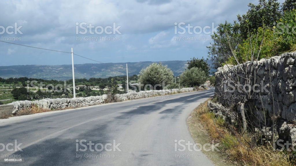 Driving to Noto, Sicily, Italy royalty-free stock photo
