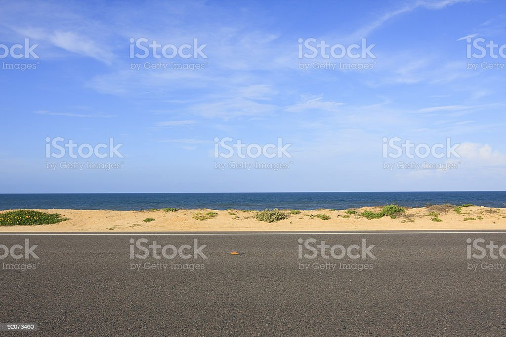 Driving to the Beach. stock photo