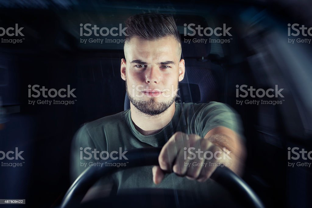 Driving under influence stock photo