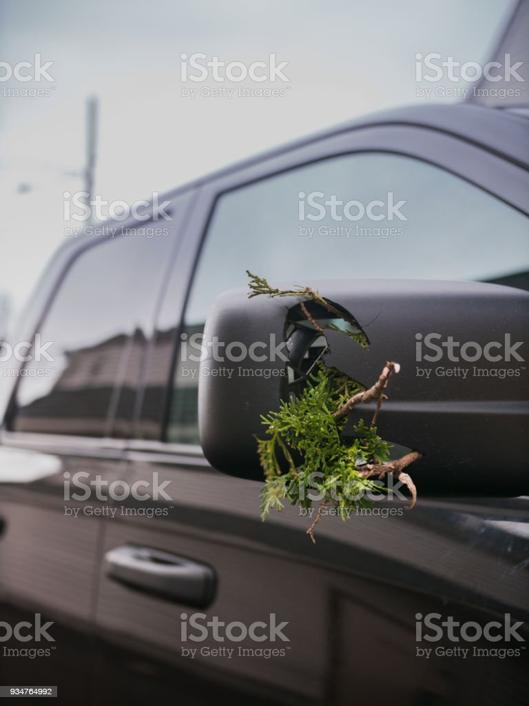Driving Wide Vehicle stock photo