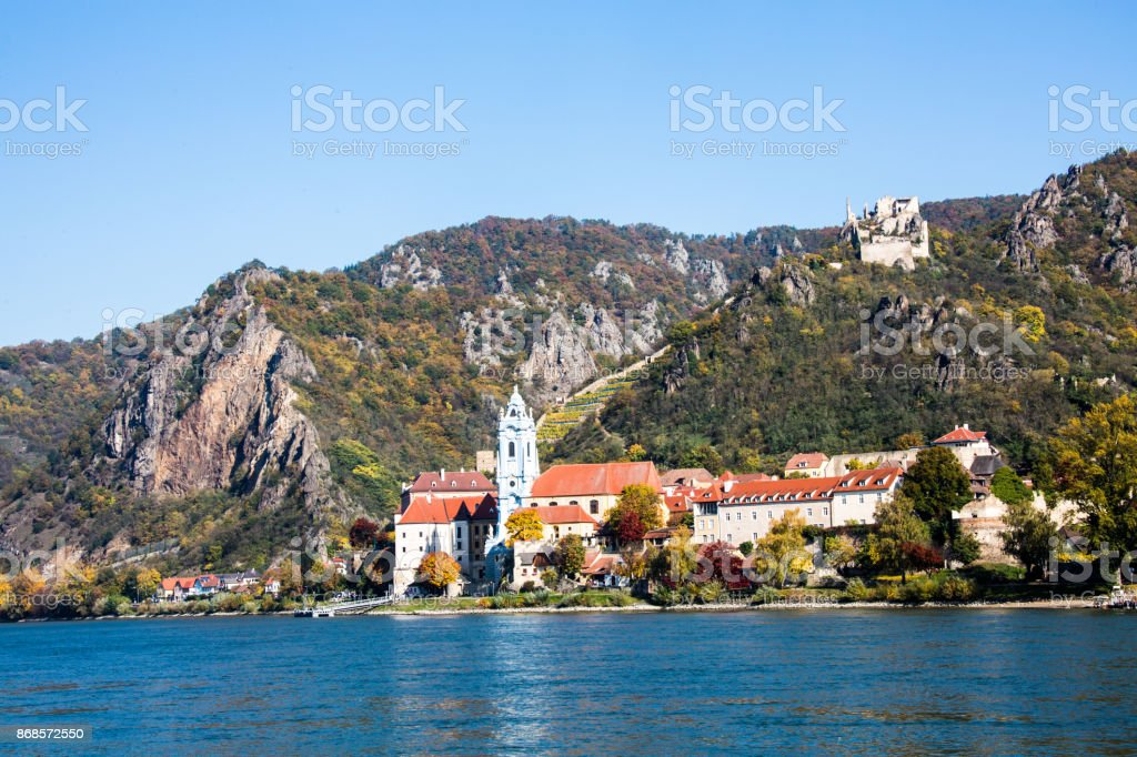 Dürnstein, Wachau an der Donau, stock photo