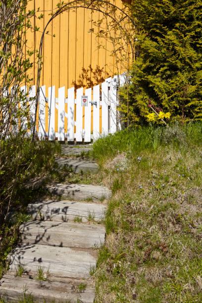 Drobak (Akershus, Norwegen) - Treppe und Zaun – Foto