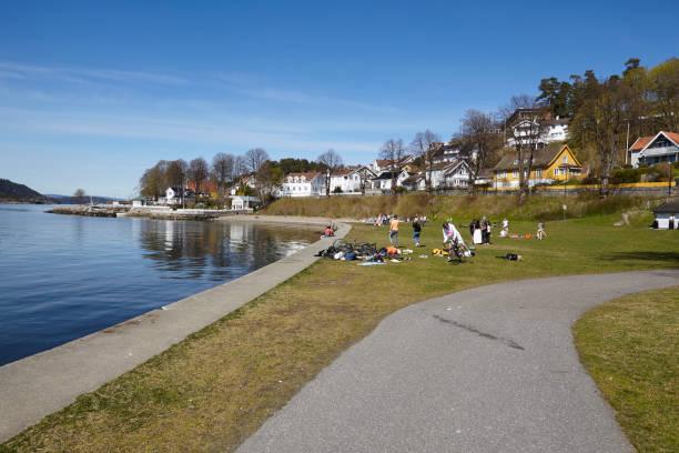 Drobak (Akershus, Norwegen) - Liegewiese – Foto