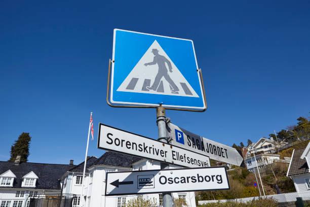 Drobak (Akershus, Norwegen) - Verkehrszeichen und Wegweiser – Foto