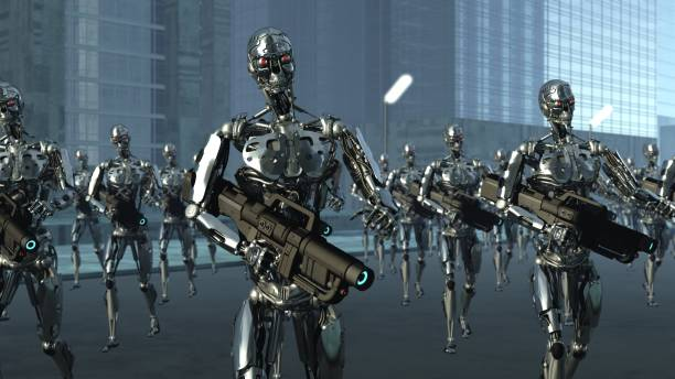 Droid Invasion Army stock photo