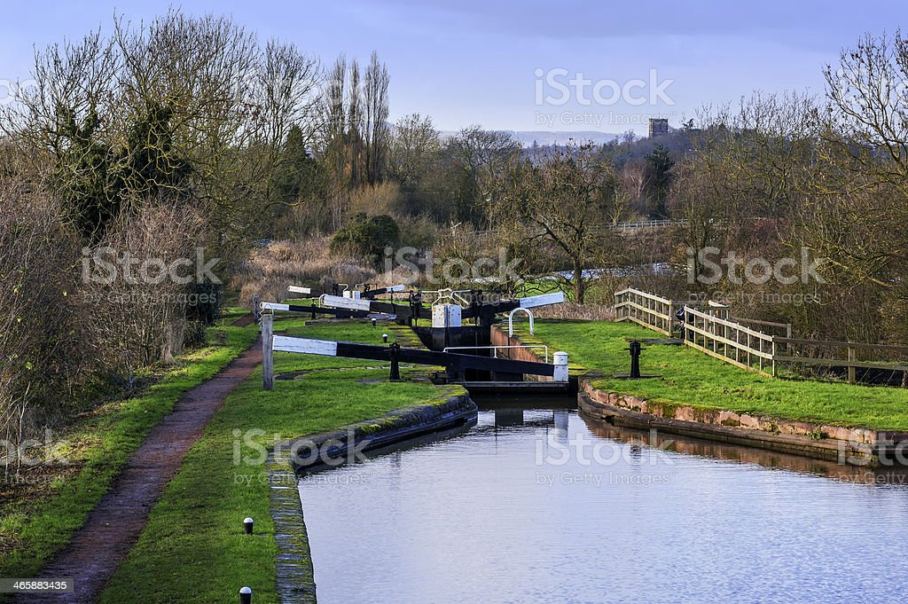 droitwich canal stock photo