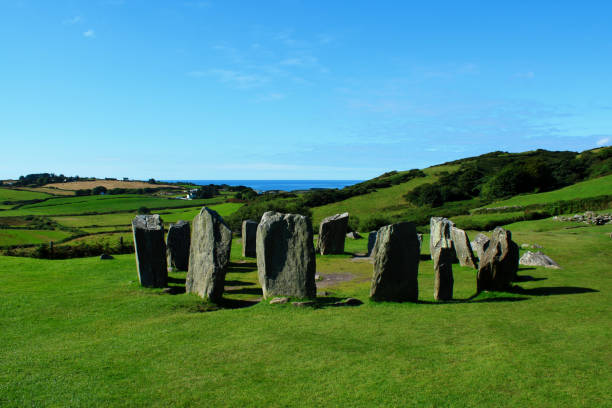 Drombeg Stone Circle, County Cork, Ireland stock photo
