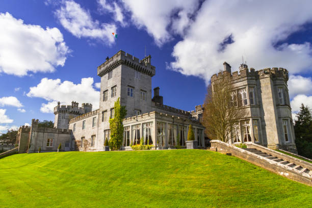 dromoland castle in co. clare - county clare stock pictures, royalty-free photos & images