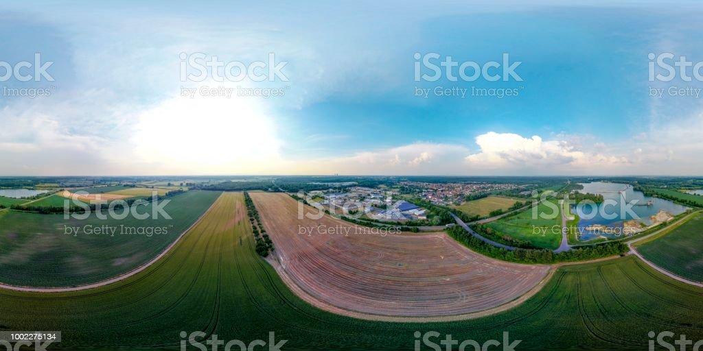 Luftbild Drohne am See 360° Kugel – Foto