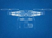 Drone Concept Architect Blueprint
