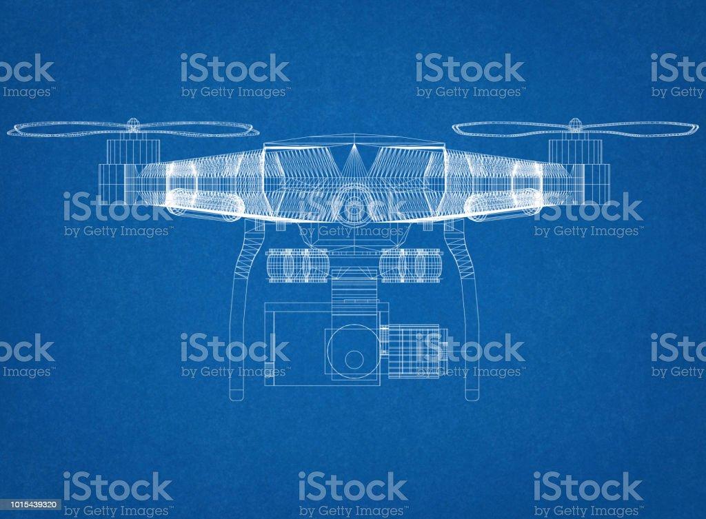 Drohne Konzept Architekt Blueprint – Foto