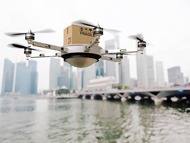 drone delivery - delivery robot bildbanksfoton och bilder