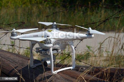 istock Drone explore ruins 1186466236