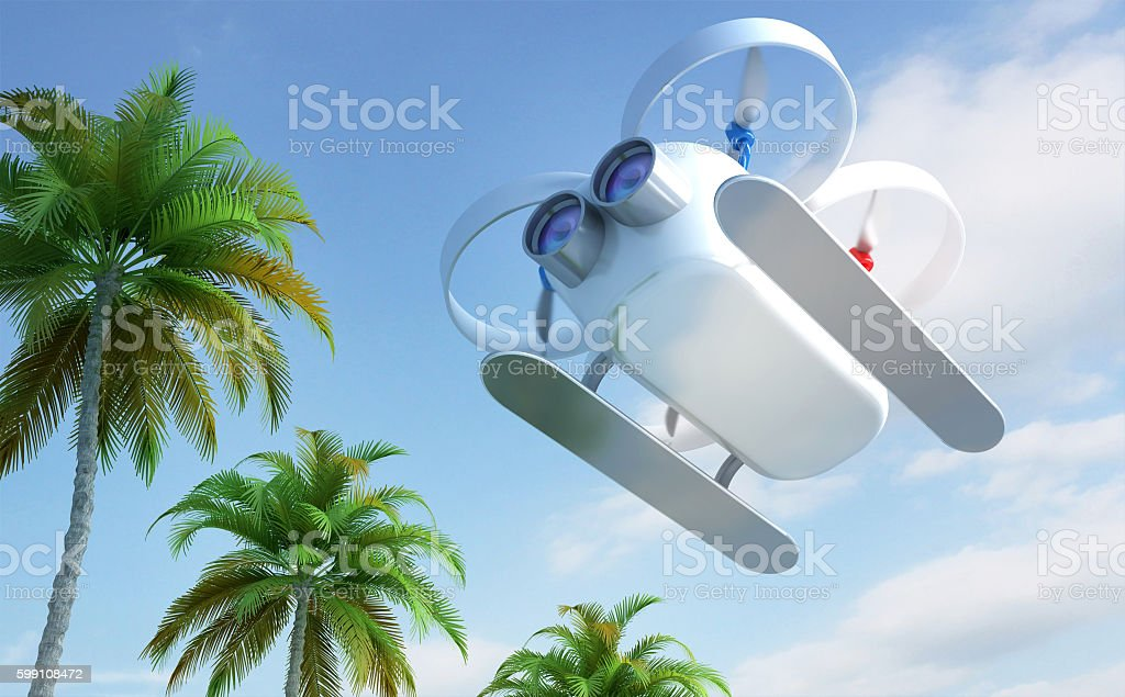 Drone flying outdoor stock photo