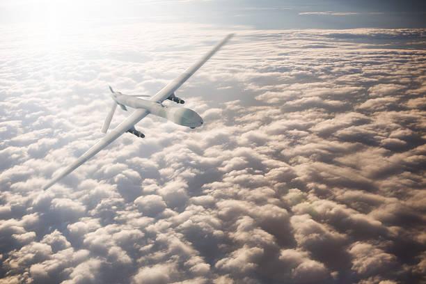 UAV Drone Flying stock photo