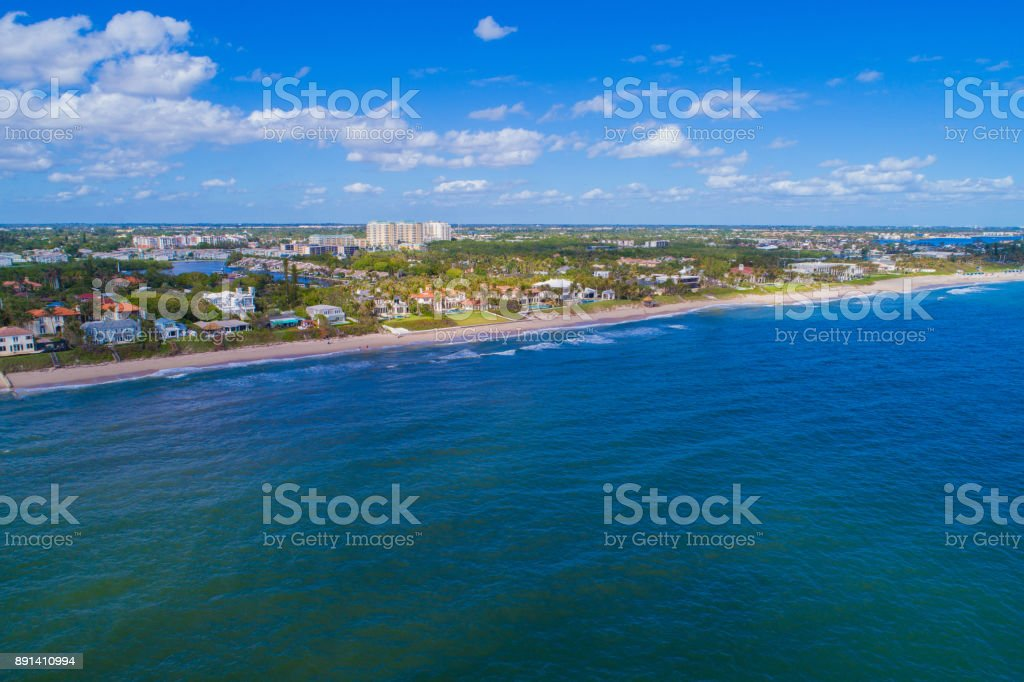 Drone image Boynton Beach FL USA stock photo