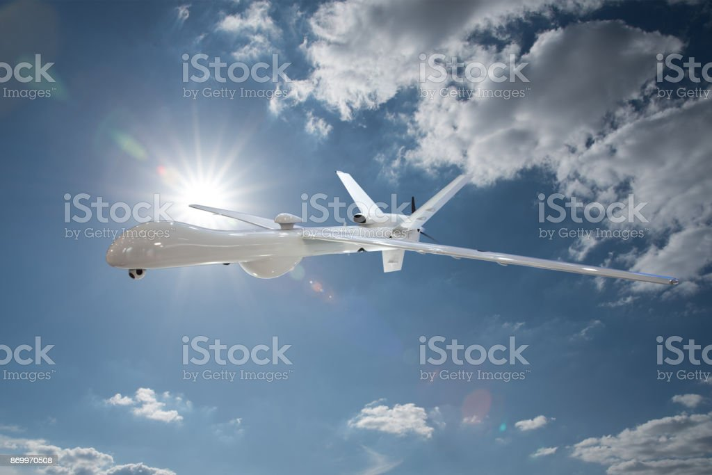 drone in the sky stock photo