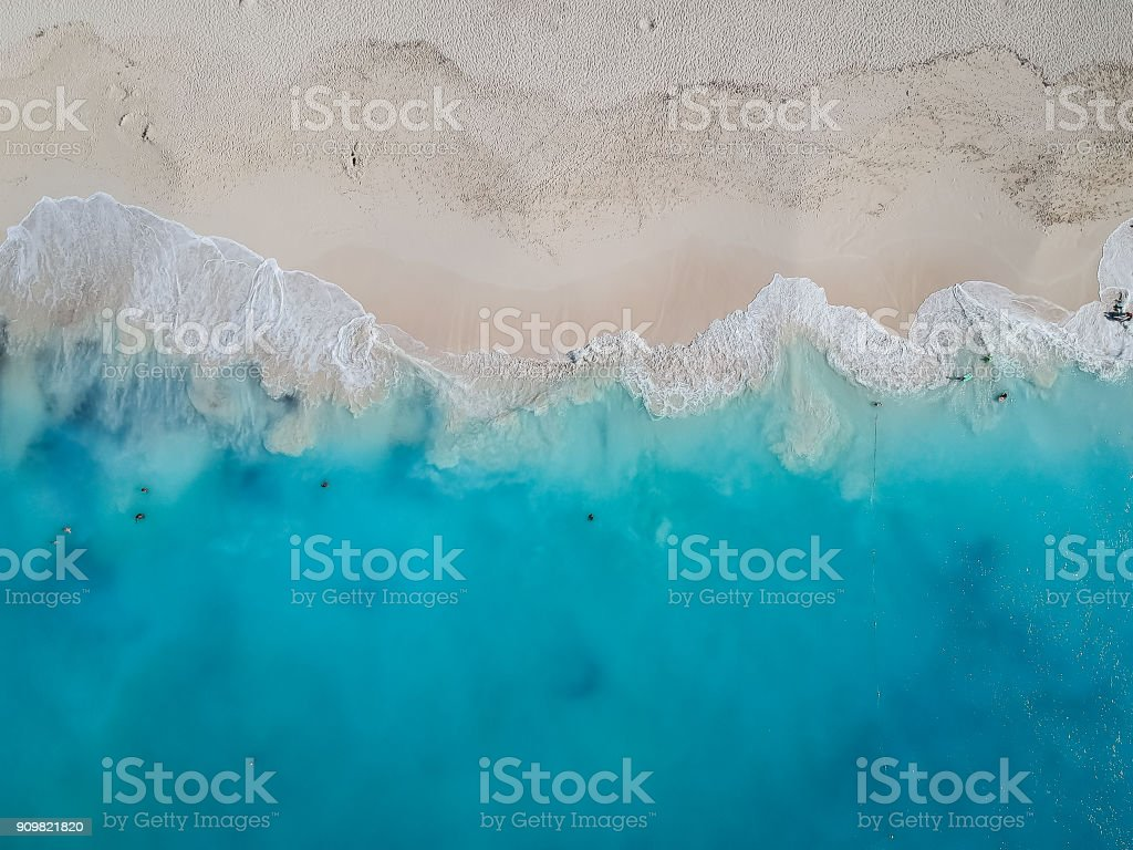 Drone photo Grace Bay, Providenciales, Turks and Caicos royalty-free stock photo