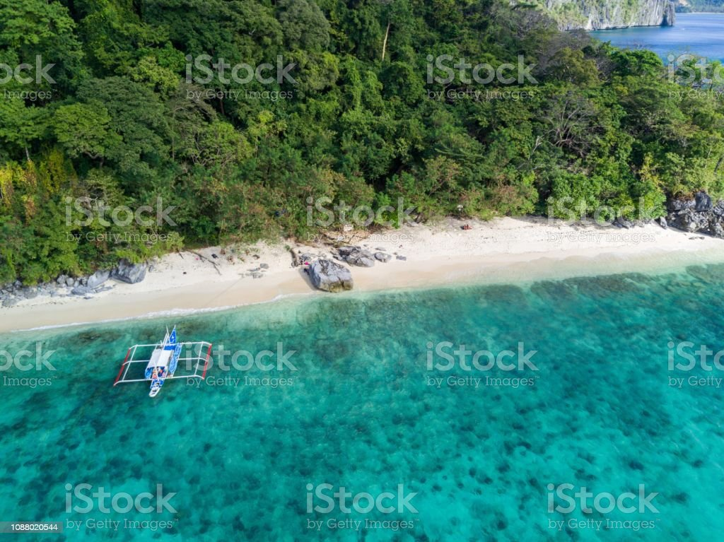 Drone Picture Of A Ipil Beach In El Nido Palawan Philippines Stock Photo Download Image Now