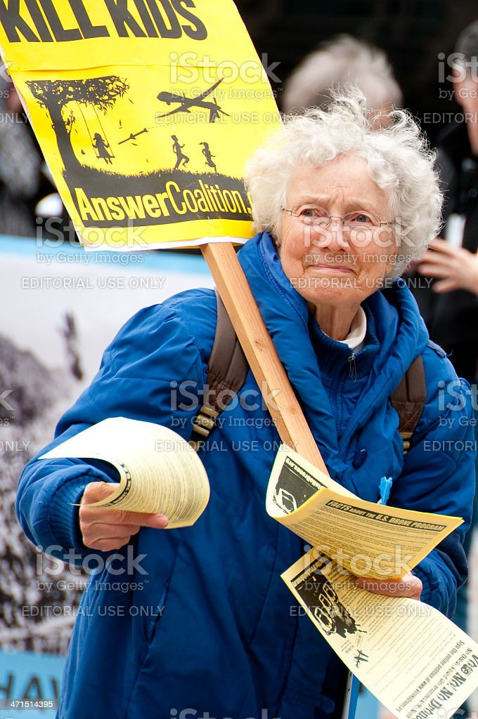 Drone Protest royalty-free stock photo