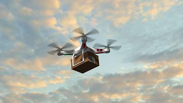 Hintergrundgeräusche Quadrocopter UAV mit fliegen im den Himmel-package – Foto