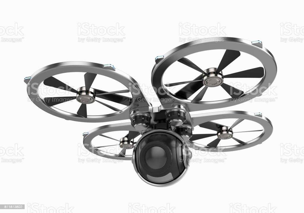 Drone quadrocopter with camera stock photo