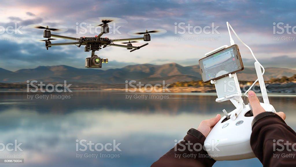 Drone remote control stock photo