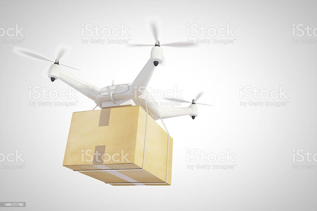 Soniquete los buques una caja y fondo blanco - foto de stock