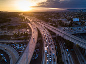 istock Drone Shot of 10/110 Interchange at Sunset 985174204