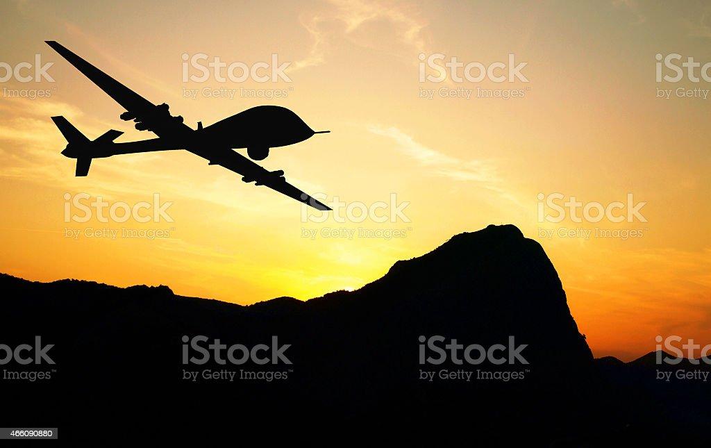 Drone silhouette stock photo