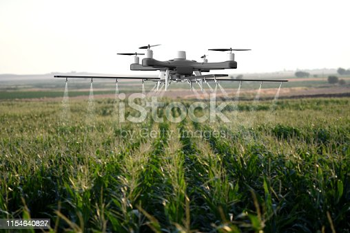 898449496istockphoto Drone spraying a field 1154640827