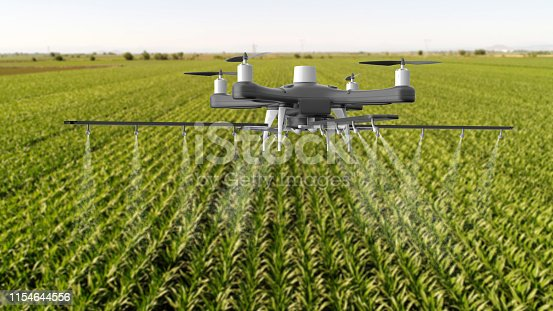 898449496istockphoto Drone spraying a field 1154644556