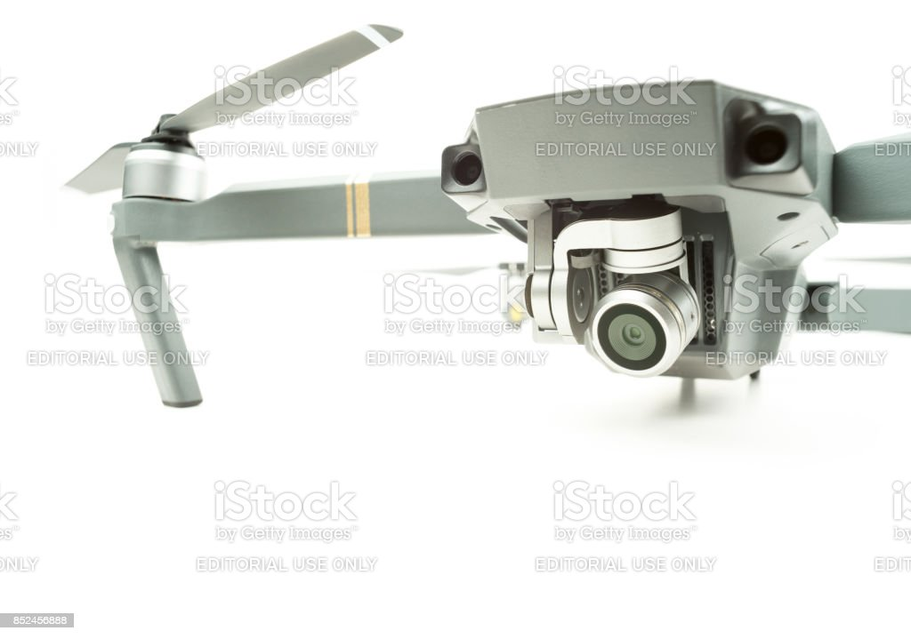Drone surveillance camera stock photo