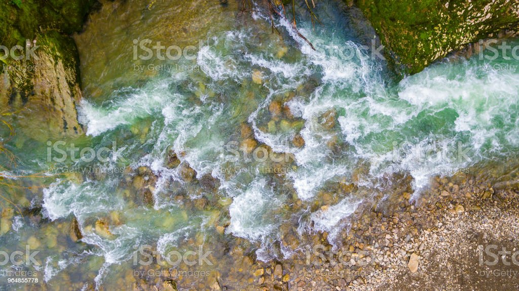 Drone view of mountain river royalty-free stock photo