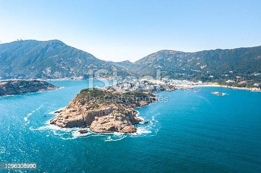 Drone view of Shek O, Hong Kong Island