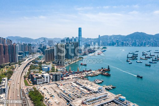 istock Drone view of West Kowloon, Hong Kong 1221819650