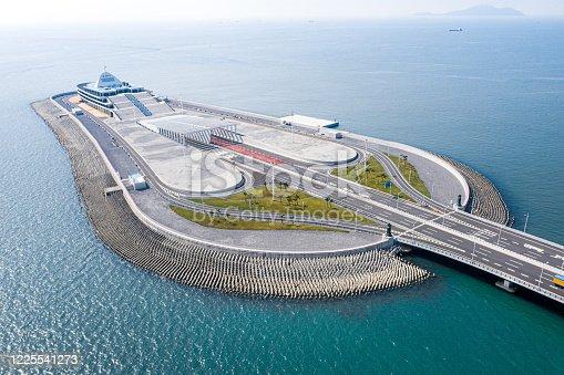 Drone view ofThe Hong Kong–Zhuhai–Macau Bridge