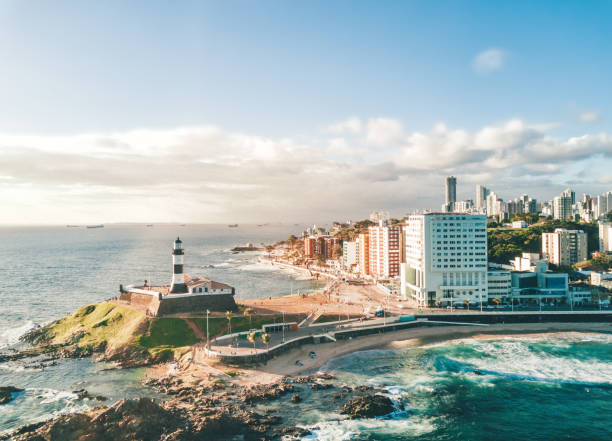 Drohne Blick auf Küste von Salvador da Bahia – Foto