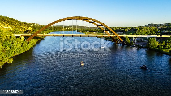 501329818istockphoto drone view pennybacker bridge Austin Texas near blue waters of Town Lake 1132835741