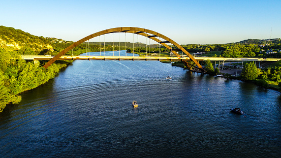 501329818 istock photo drone view pennybacker bridge Austin Texas near blue waters of Town Lake 1132835741