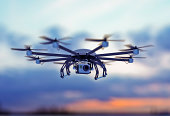 istock drone white cloudy dusk sky 492683865