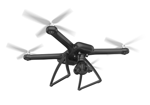 Drone with Camera isolated on white background. 3D render