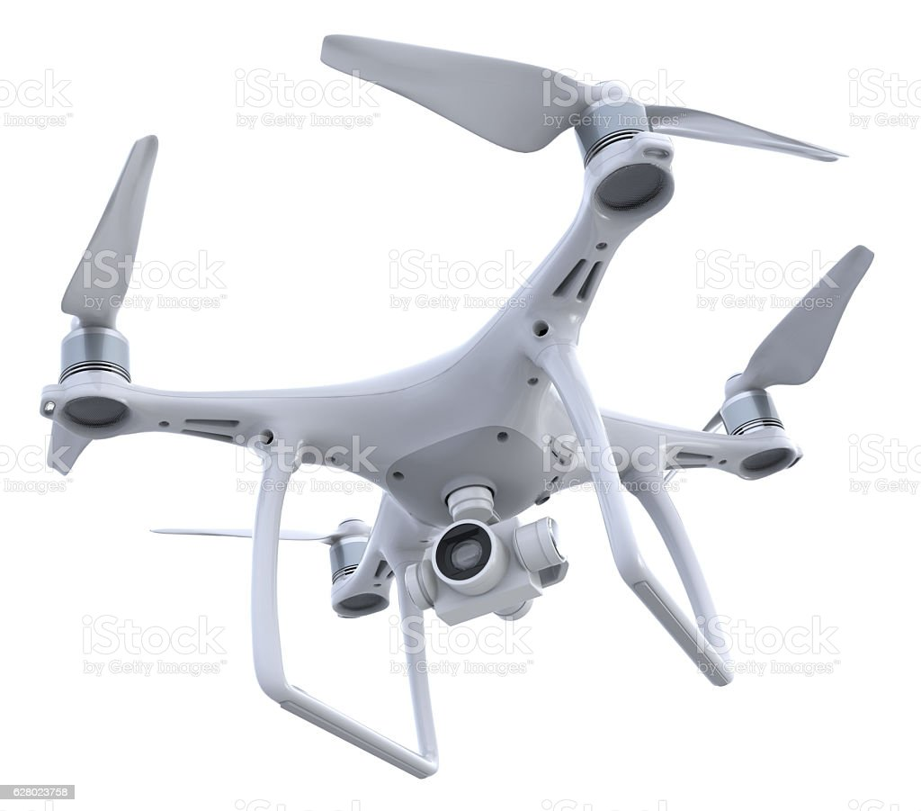 Drone with camera stock photo