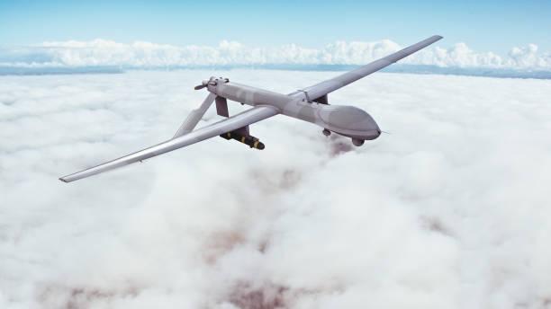 Drones military stock photo