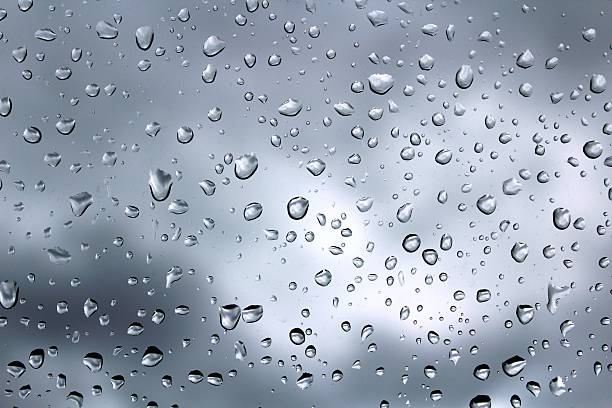 Drop glass stock photo