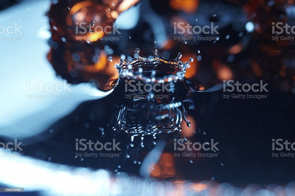 Drop in liquid royalty-free stock photo