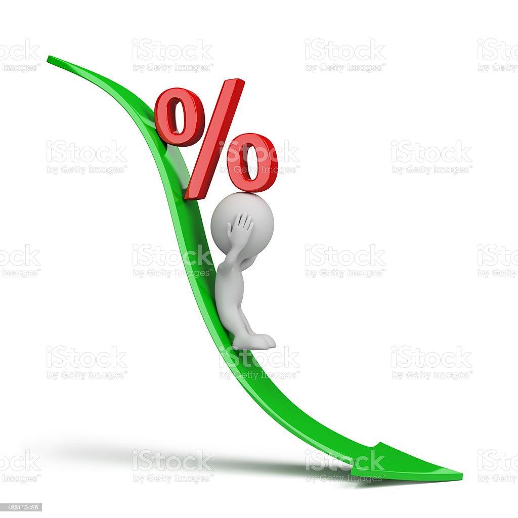 Drop in revenue stock photo