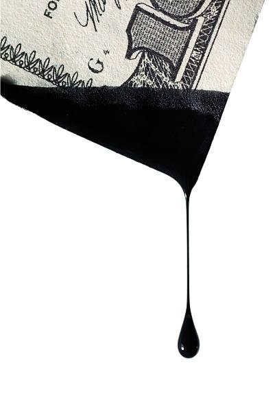 drop of a black liquid stock photo