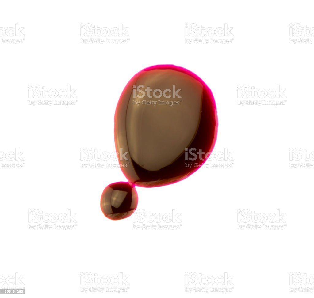 drop of blood isolated on white background stock photo