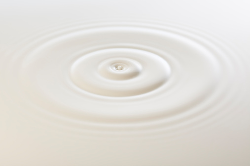 Drop of milk makes ripples.